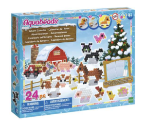 aquabeads julekalender, legetøjsjulekalender til børn, legetøjsjulekalender til piger, julekalender med legetøj, julekalender med Aquabeads