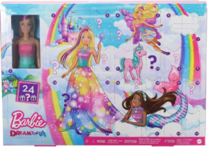 barbie julekalender, julekalender med barbie, legetøjsjulekalender, legetøjsjulekalender til piger, Barbie julekalender til piger
