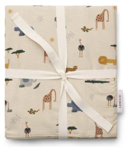 Liewood JUNIOR sengetøj Sandy safari mix, Liewood JUNIOR sengetøj, Økologisk sengetøj, økologisk sengetøj til drenge, økologisk junior sengetøj, Gave til 3-årige drenge