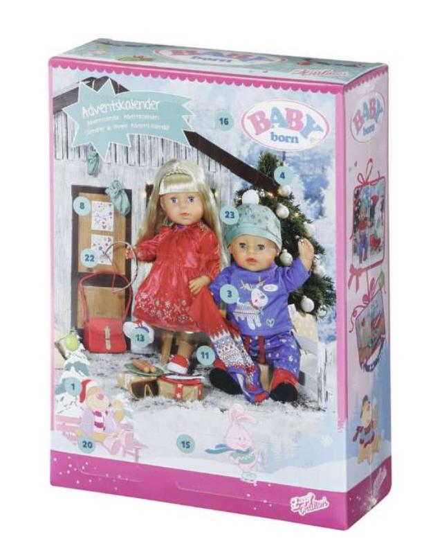 Julekalendere til piger, julekalender 2021, baby born julekalender, julekalender med baby born, julekalender til piger, pige julekalender, julekalender med dukke tøj