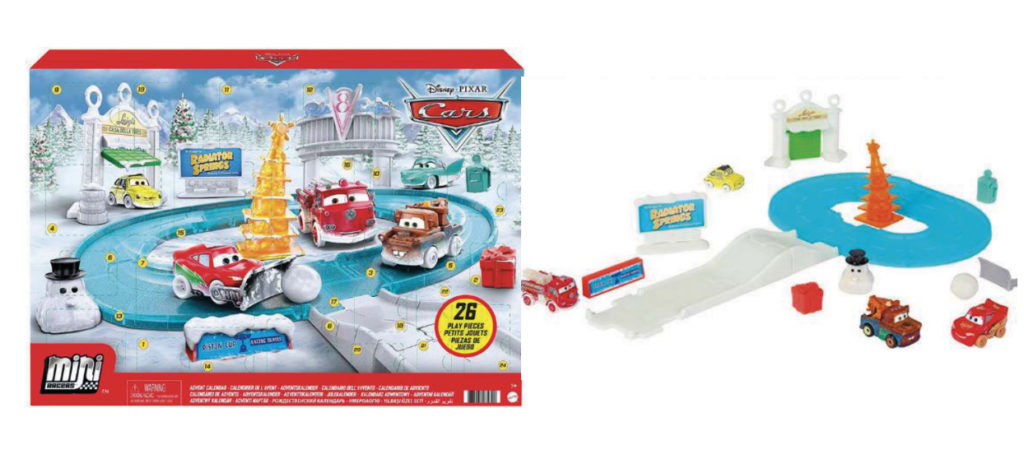 Biler julekalender, Julekalender med Cars, Disney julekalender, Disney pixar julekalender, Anderledes julekalendere til drenge, 2021 julekalender