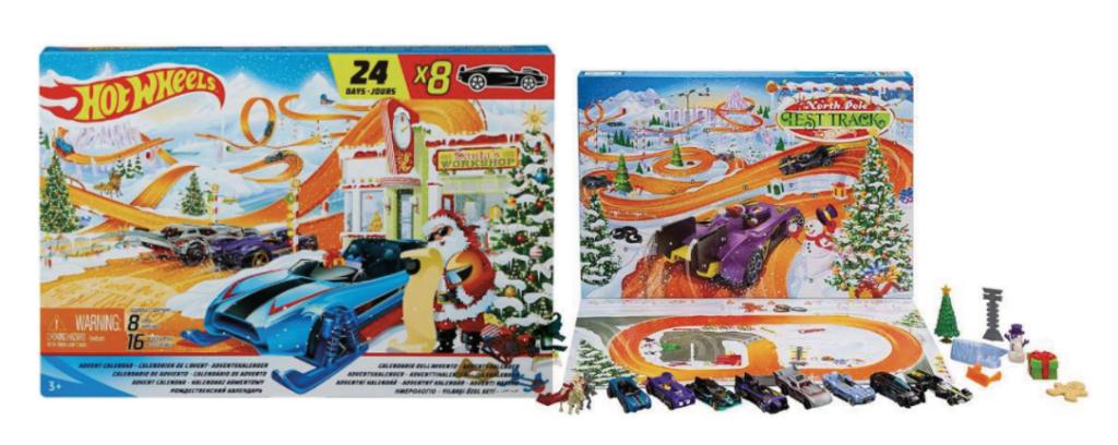 Hot Wheels julekalender, biler julekalender, julekalender med biler, Anderledes julekalendere, julekalendere 2021, julekalender til drenge, børneværelset, legetøjs julekalendere
