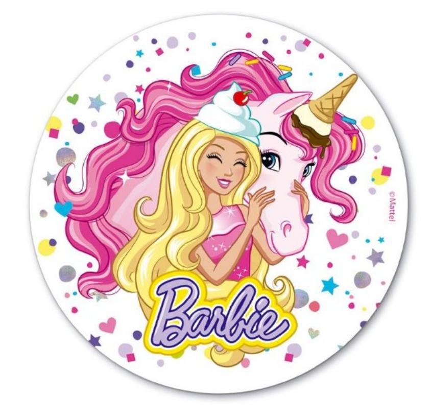 Barbie kage, nem barbie kage, spiseligt papair med barbie, sukkerprint med Barbie, Barbie fødselsdag