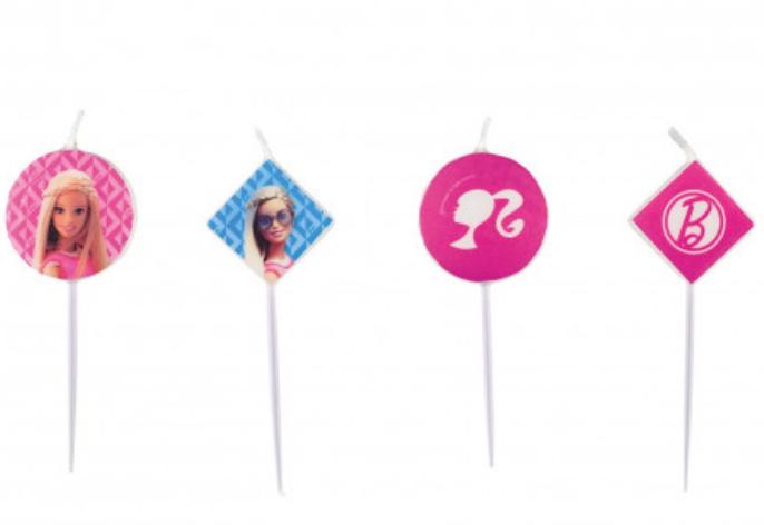 barbie figurlys, barbie kagelys, fødselsdagslys med barbie, barbie kage, tilbehør til barbie kage