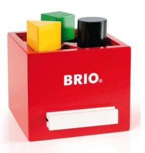 BRIO Putteboks, puttekasse, motorik træning, træning af babyers motorik.