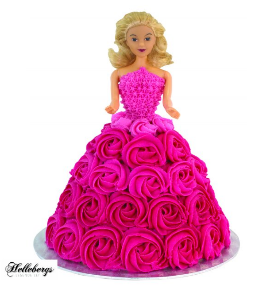 Barbie kjole kage, kage med Barbie, Barbie fødselsdag, fødselsdag med Barbie, Barbie tema fest, kage med barbie i, kage med Barbie indeni, lyserød barbie kage