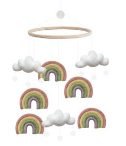 Uro til babyer, baby uro, uro med regnbuer, uro med skyer, søde uroer til børn,