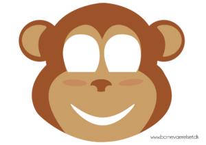 Abe maske, abe ansigt maske, udklædningsmaske af abe, Abe udklædningsmaske, dyre maske, dyremaske, abe dyremaske, gratis masker,