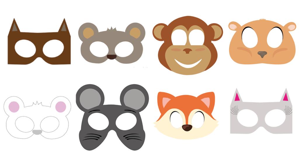 Abe maske, abe ansigt maske, udklædningsmaske af abe, Abe udklædningsmaske, dyre maske, dyremaske, abe dyremaske, gratis masker, masker til børn, gratis masker til børn, print selv maske, bjørne maske, brun bjørn maske, isbjørne maske, Hvid bjørn maske