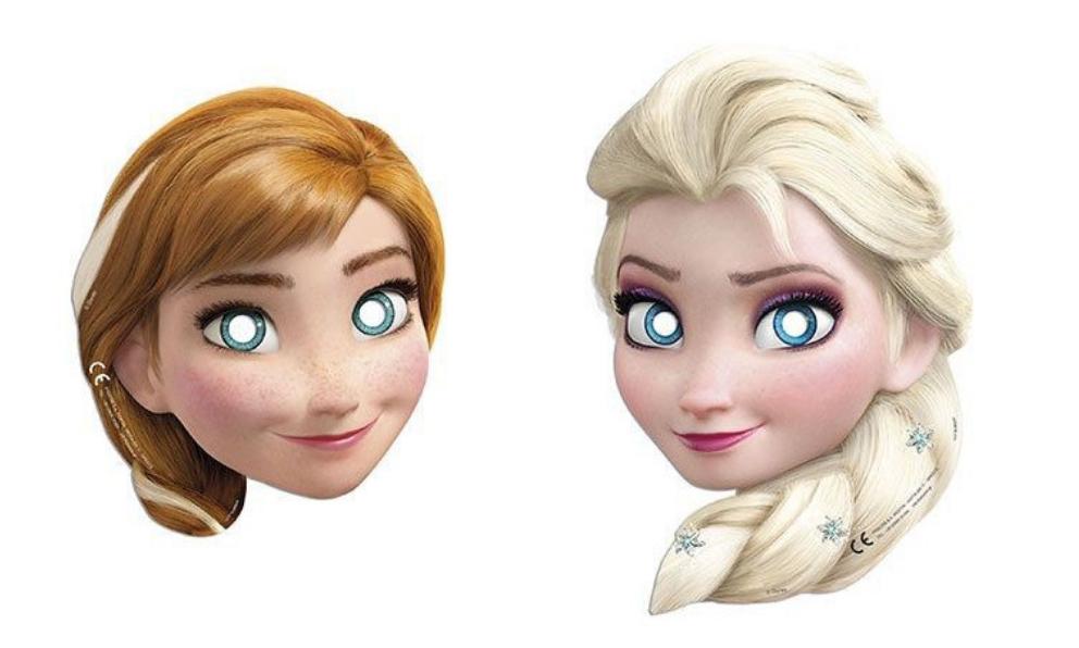 frost masker, masker med frost, elsa maske, anna maske, Disney prinsesse masker,
