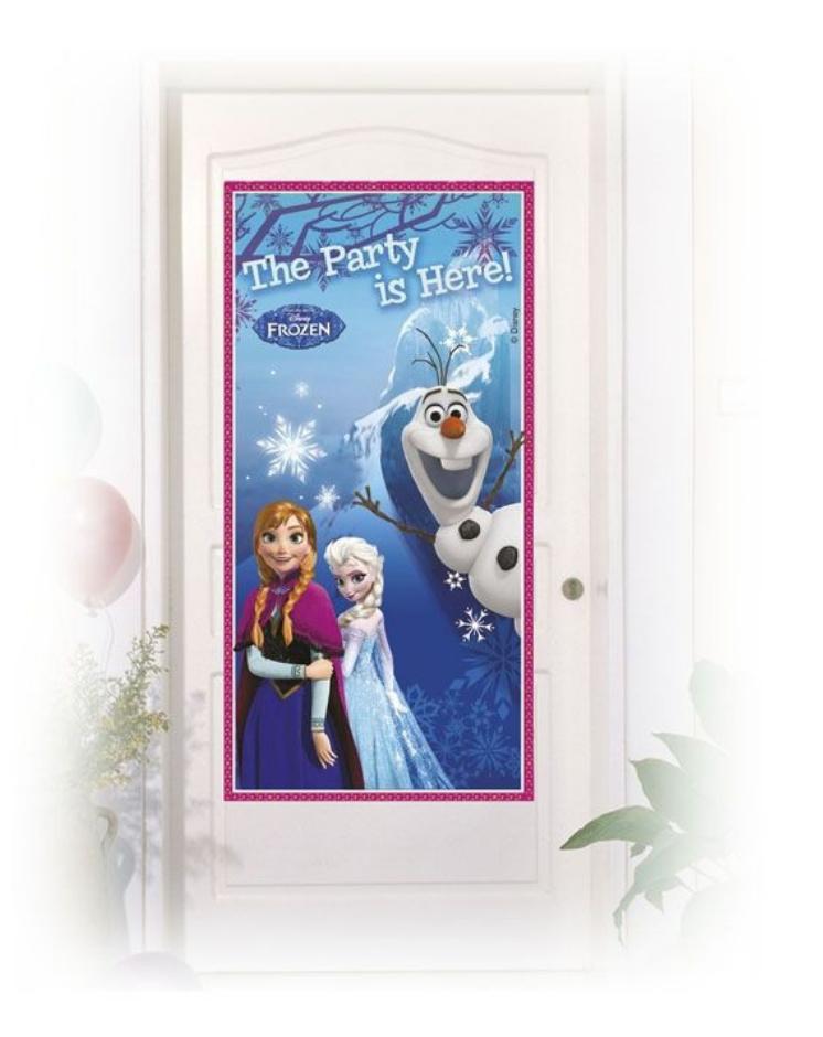 Frost fødselsdag, fødseldag med Frost, Frost borddækning, borddækning med frost, Frost dør banner, Dør banner til fest, Frost plakat til fødselsdag,