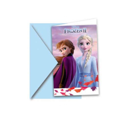 Frost invitationer, Frost indbydelser, fødselsdagsinvitationer med Frost, Frozen Invitationer