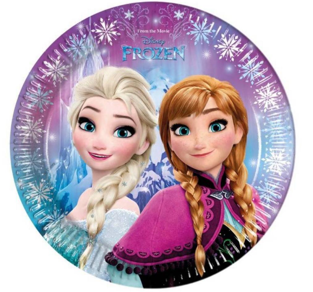 Frost fødselsdag, fødseldag med Frost, Frost borddækning, borddækning med frost, Frost paptallerkner, pap tallerkner med frost