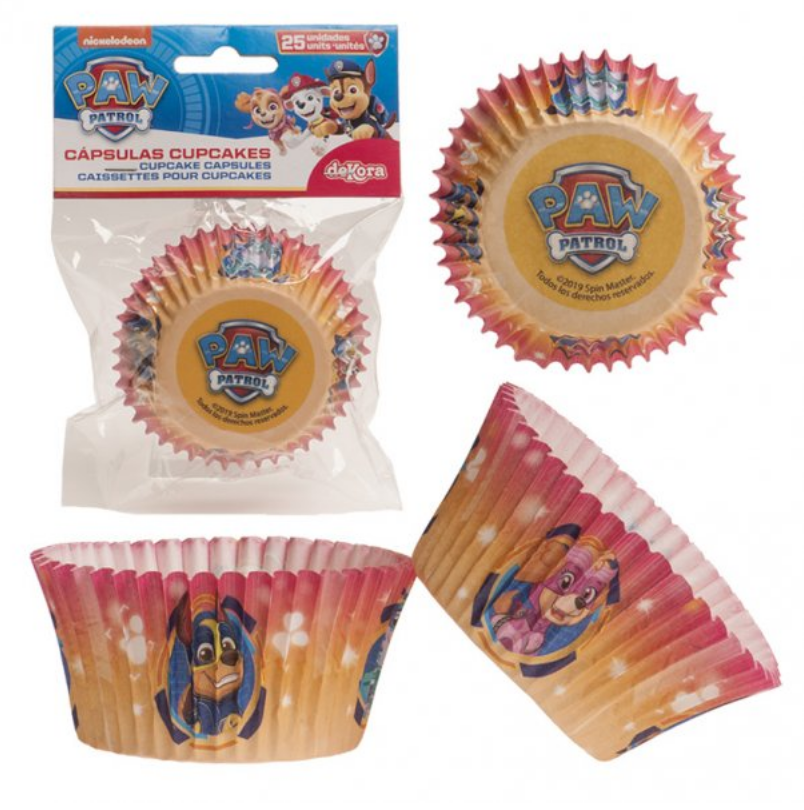 Paw patrol muffinsfome, Muffin forme med Paw patrol, Paw patrol fødselsdag, børnefødselsdag, super helte hunde fødselsdag