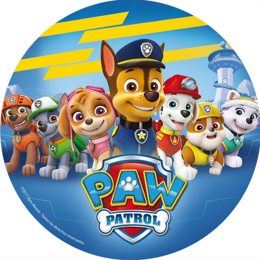 Nem Paw patrol kage, kage med Paw Patrol, Spiselig papir med Paw Patrol, fødelsdag med Paw Patrol, Paw Patrol fødselsdag