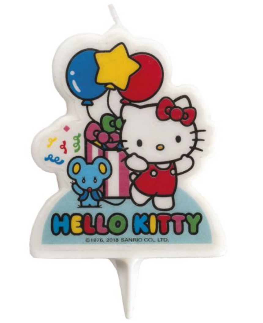 Hello Kitty kagelys, kagelys med Hello Kitty, Fødselsdaglys med Hello Kitty, børnefødselsdag