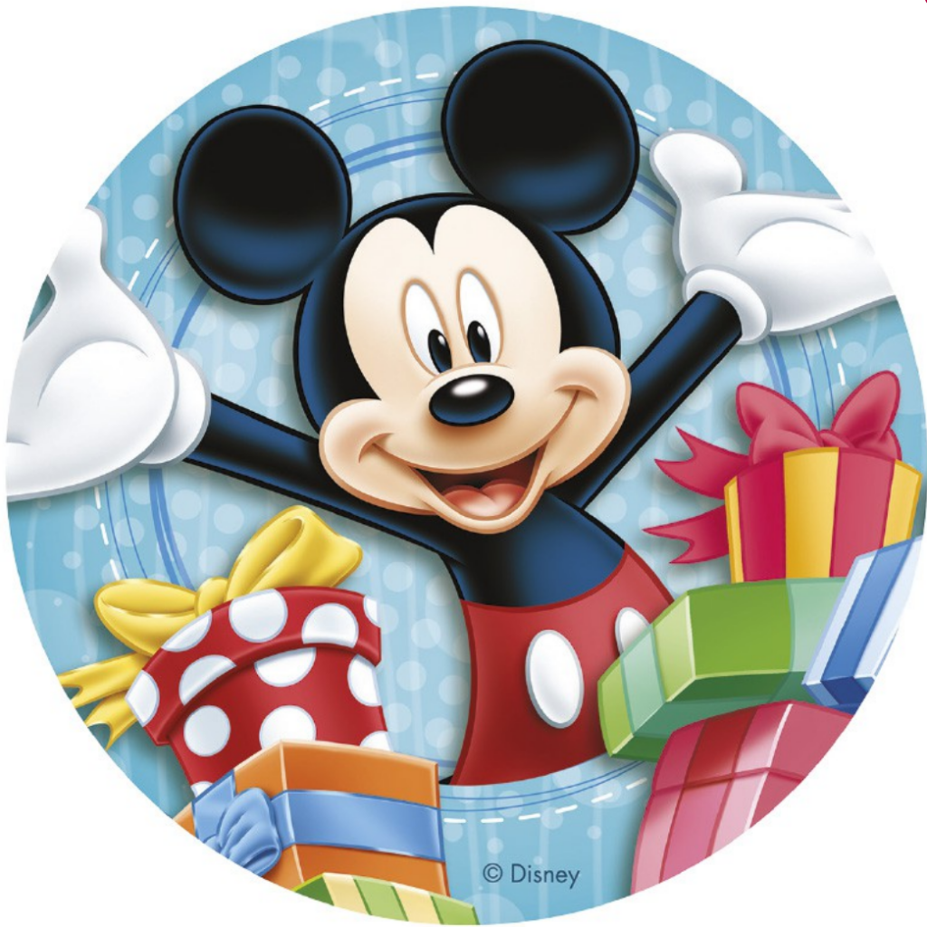 Mickey Mouse spiselig papir, Mickey Mouse vaffelpapir, vaffelpapir med Mickey mouse, Nem Mickey Mouse kage, Nem Mickey Mouse fødselsdagskage, kage med Mickey Mouse