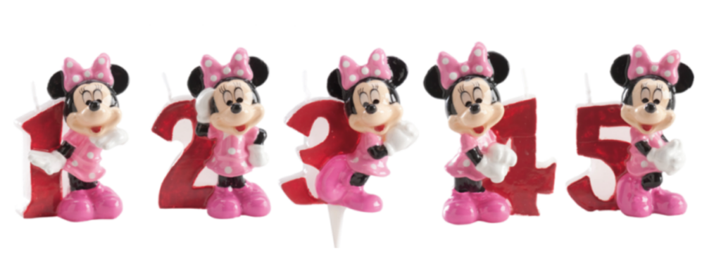 Minnie Mouse kagelys, Kagelys med Minnie Mouse, Minnie mouse fødselsdag, Kage med Minnie Mouse