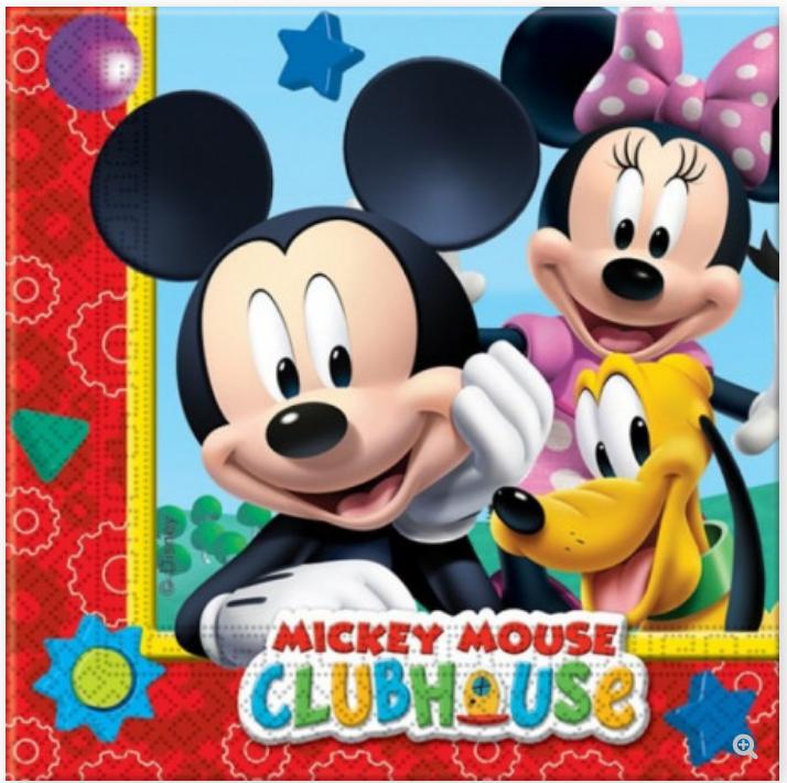 Clubhouse servietter, Minnie Mouse servietter, Servietter med Minnie Mouse