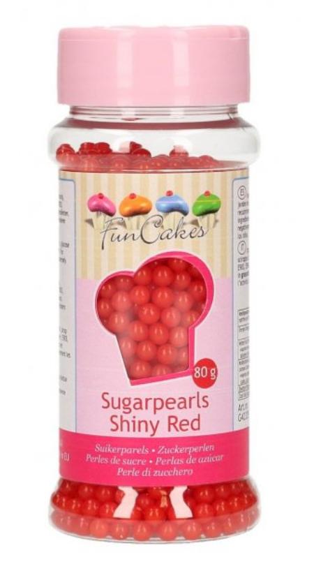 Rød sukkerperler, sukkerperler i rød, rød perlekrymmel, Krymmel til børnefødselsdag