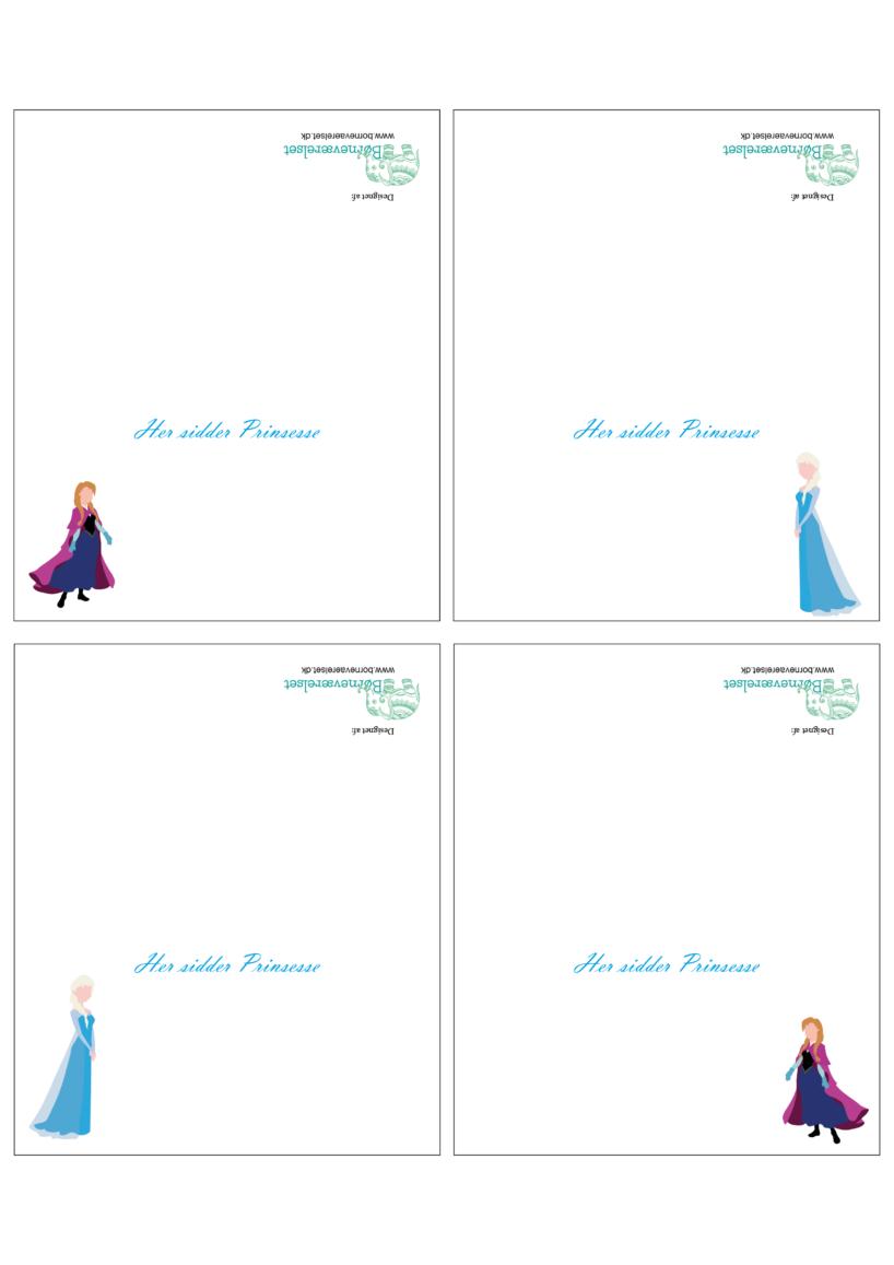 Fødselsdags bordkort, bordkort til fødselsdagen, Bordkort med Frost, Bordkort med Elsa, Bordkort med Anna, Anna og Elsa fødselsdag, Frozen fødselsdag