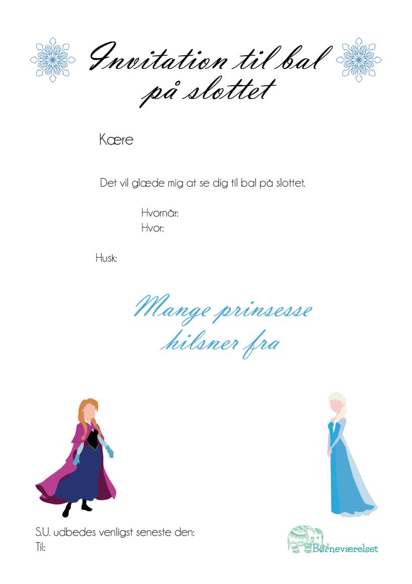 Frost fødselsdag, Frozen invitation, Invitationer til frost fødselsdag, invitationer med Anna og Elsa, Frost Elsa fødselsdag, Fødselsdags indbydelse med Elsa, Fødselsdagsinvitationer med Frozen, Frozen fødselsdag, Gratis fødselsdags invitationer, invitationer til fødselsdag gratis, Gratis fødselsdagsindbydelser
