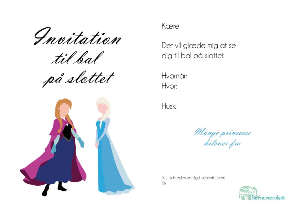 Invitationer til frost fødselsdag, invitationer med Anna og Elsa, Fødselsdags indbydelse med Elsa, Fødselsdagsinvitationer med Frozen, Frozen fødselsdag, Gratis fødselsdags invitationer, invitationer til fødselsdag gratis, Gratis fødselsdagsindbydelser