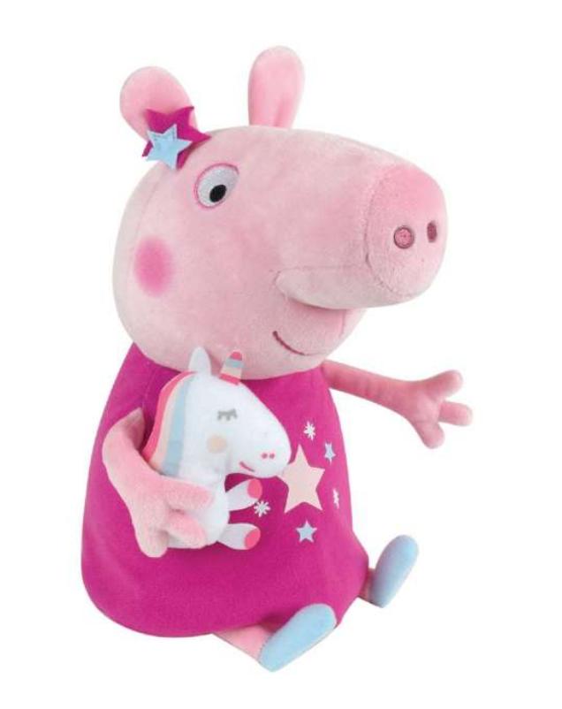 Gurli gris bamse, bamse med Gurli Gris, Gurli Gris bamse med enhjørning, bamser til 3 årige, gaver til 3-årige piger
