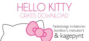 Hello Kitty fødselsdag, føselsdag med hello kitty, børnefødselsdag, gratis invitationer til børnefødselsdag, fødselsdags invitationer, pige fødselsdag, Fødselsdag med Hello Kitty