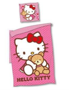 Hello Kitty sengetøj, sengetøj med Hello Kitty, Gaver med Hello Kitty, Sengetøj til børn, Gaver til 3 år piger, Fødselsdagsgaver til 3-årige piger