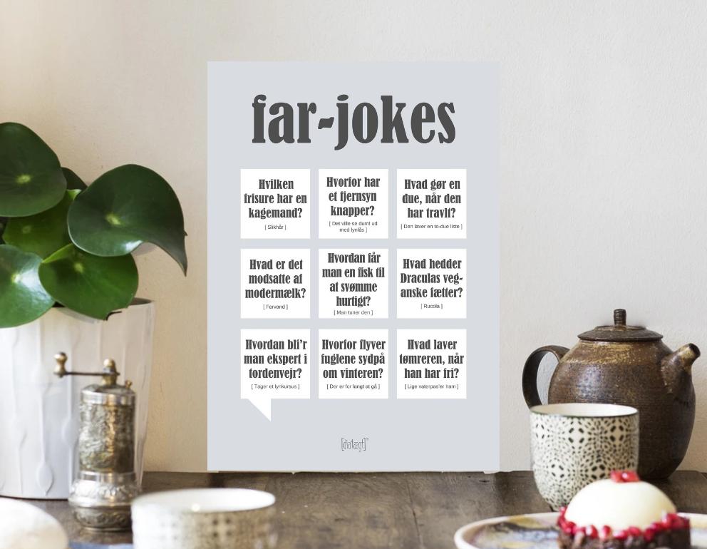 Fars dags gave, gave til fars dag, fars dags gaver, Plakat med Far jokes, far jokes plakat, far plakat, Plakat med Far defination, gaver til far, Faren plakat