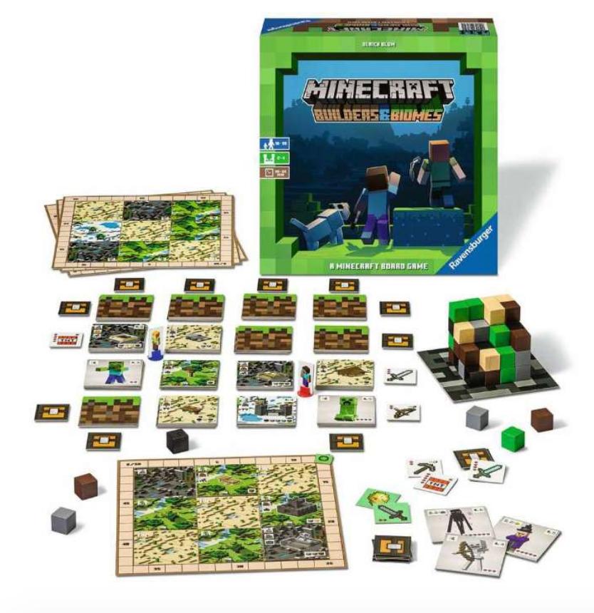 Minecraft Brætspillet, Brætspillet med Minecraft, minecraft spil, familie spil, Far´s dags gaver, gaver til far´s dag,