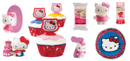 Hello Kitty kagepynt, kagepynt med Hello Kitty, Hello Kitty fødselsdag, fødselsdag med Hello Kitty, kagepynt til børnefødselsdag, pigefødselsdag
