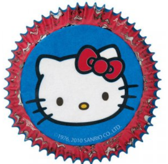 Hello Kitty Kage topper, muffins med Hello Kitty, Hello Kitty fødselsdag, Fødselsdag med Hello Kitty, cupcakes med Hello Kitty