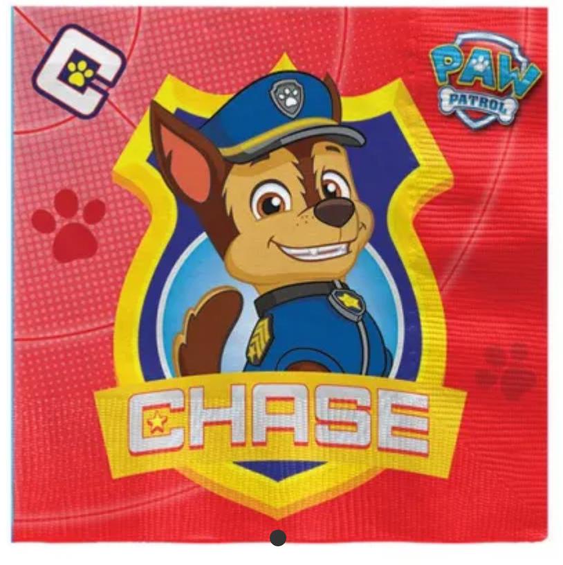 Fødsesldag med Paw Patrol, super helte hunde fødselsdag, børnefødselsdag med tema, gode fødselsdagsteamer til børn, Paw patrol servietter, servietter med Paw Patrol