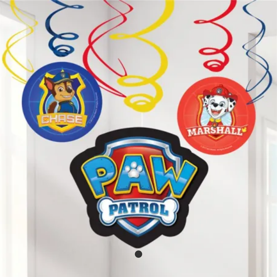 Fødselsdags konfetti, konfetti til børnefødselsdagen, Paw Patrol fødselsdags pynt, Swirls til fødselsadgen, drenge fødselsdag