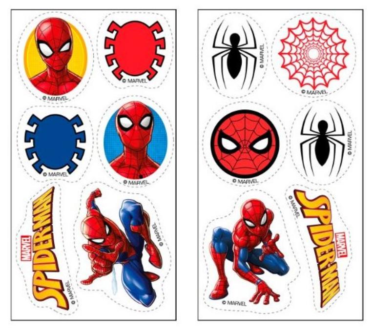 Spiderman muffins, muffins med spiderman, spiderman kage, fødselsdag med Spiderman, mini sukkerprint med spiderman