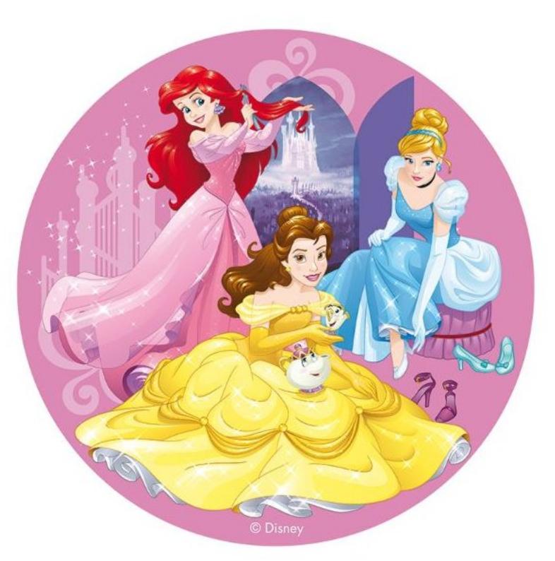 Sukkerprint med Disney prinsesser, Disney prinsesse sukkerprint, fødselsdag for prinsesser, sukkerprint til pige fødselsdagen, pige fødselsdag sukkerprint