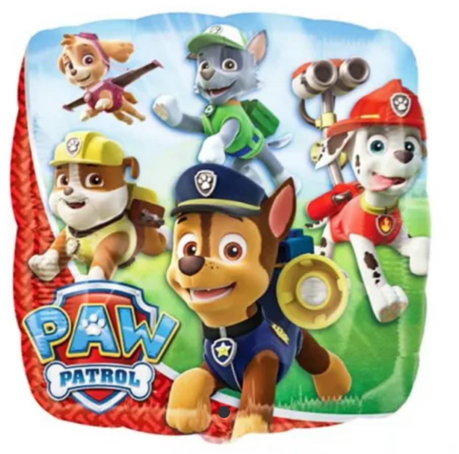 Paw Patrol ballon, Paw Patrol Folie ballon, Folie ballon med Paw Patrol, børne fødselsdag, balloner til børnefødselsdag,