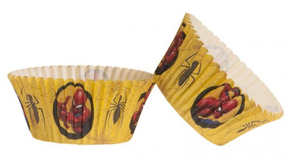 Spiderman muffinforme, muffinforme med Spiderman, muffins til drengefødselsdag, fødselsdag til drenge