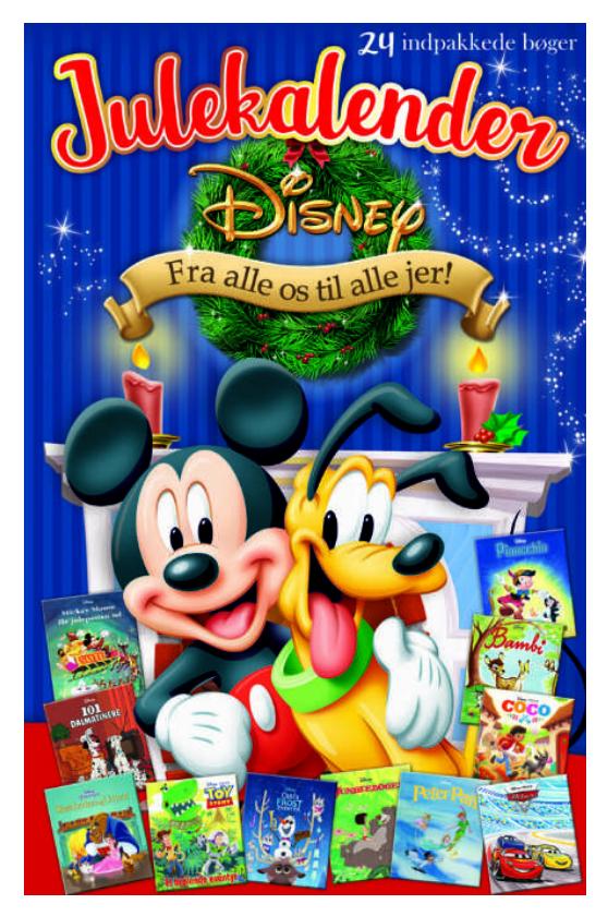 Disney juekalender, julekalender med disney historier, historier fra disney julekalender, julekalendere med bøger, julehistorier i julekalender