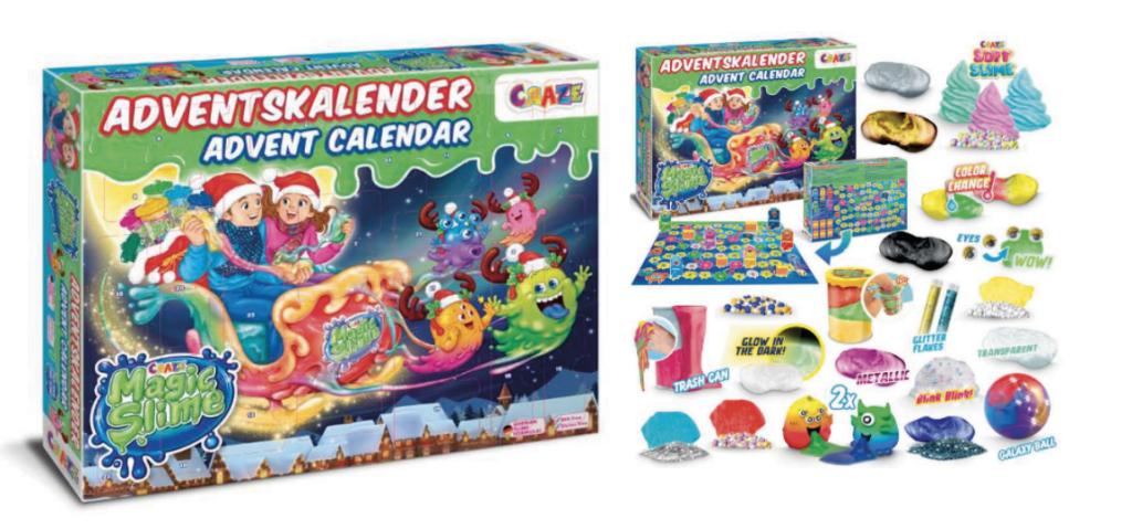 Magic Slime Julekalender 2021 , Slime julekalender, julekalender med slime 2021, legetøjsjulekalender med slim, legetøjsjulekalender til drenge
