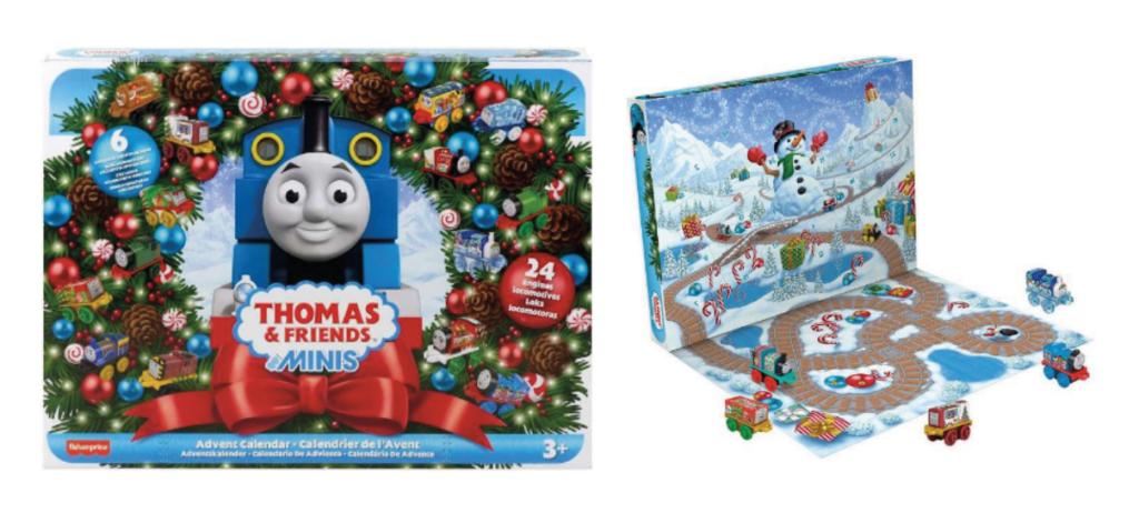 Thomas Tog julekalender, julekalender til drenge 2021, julekalender med Thomas tog, Julekalender med tog, legetøsjulekalender til drenge